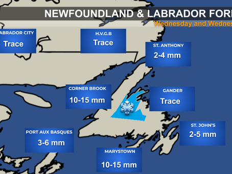 Rain, Wind, and Yes Even Snow Expected in Newfoundland