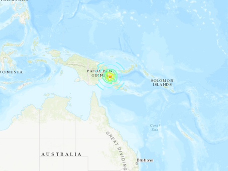 Strong Earthquake in Papua New Guinea
