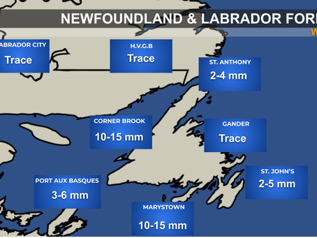 Rainy Wednesday Ahead for parts of NL