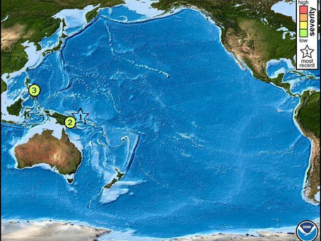 Tsunami Threat for Papua New Guinea and Solomon Islands