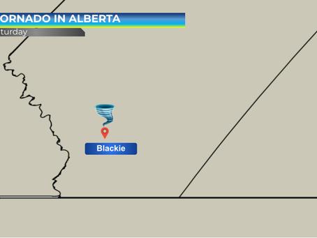 Tornado near Blackie Alberta