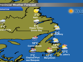 Unsettled Monday in store for the province #nlwx
