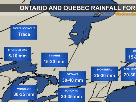 Soaking Rain Expected Across Ontario and Quebec