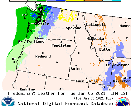 Unsettled Weather Continues Across Pacific Northwest