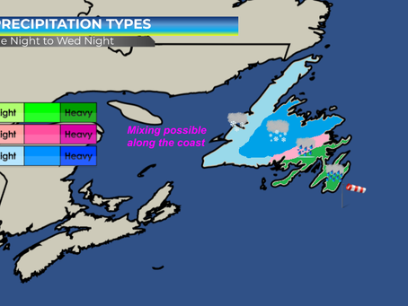 Snow, Rain, and Strong Wind Expected Across Parts of Newfoundland #nlwx