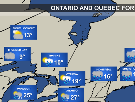 Heavy Rain & Thunderstorms Across Ontario & Quebec
