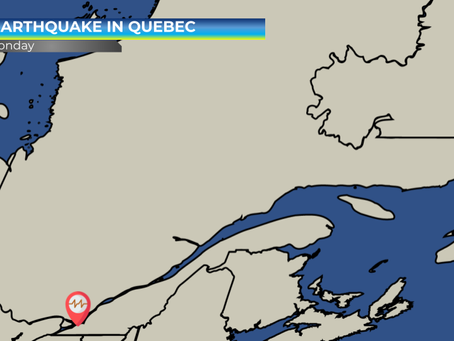 Earthquake just north of Montreal