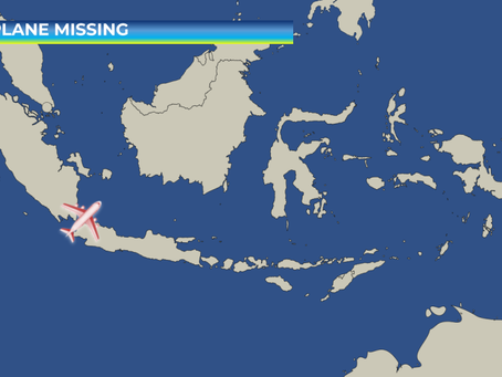 Plane Goes Missing Shortly After Takeoff in Indonesia