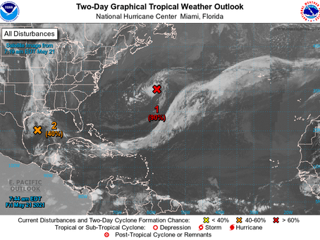 Pair of lows could mean an early start to hurricane season