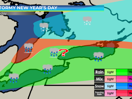 Stormy New Year's Day for Southern Ontario #ONstorm