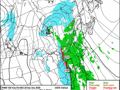 Stormy Christmas Expected in Southern Quebec and Southern Ontario