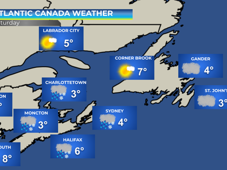 Snow and rain expected across Atlantic Canada this weekend