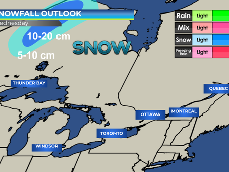 Snow expected in NW Ontario #ONwx