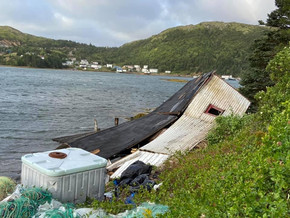 Baine Harbour hit hard by Hurricane Larry