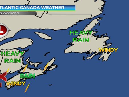 Elsa and a trough to bring heavy rain to parts of Atlantic Canada