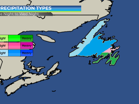 Snow, Rain, and Wind Expected on Tuesday Night & Wednesday Across NL