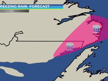 Freezing Rain Risk for SE Labrador