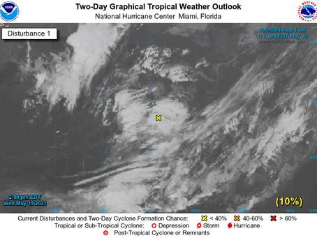 Chance of tropical development in the Atlantic
