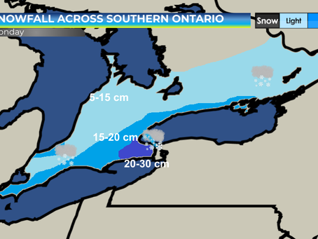 Snow Expected Across Southern Ontario