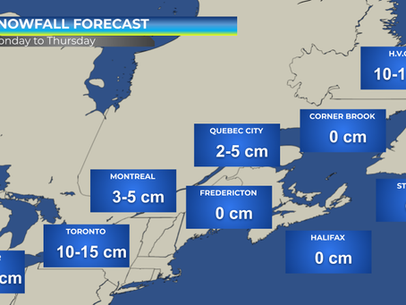 Huge Storm to Impact Southern Ontario, Southern Quebec & Atlantic Canada