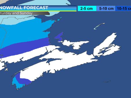 Snowfall Forecast for The Maritimes and Newfoundland