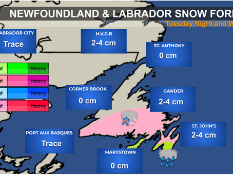 Mixed Bag of Weather Heading to Newfoundland