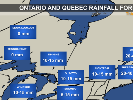 Wet Weekend Ahead for Ontario and Quebec