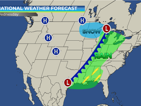 Unsettled Weather & Thunderstorm Risk Across Eastern United States