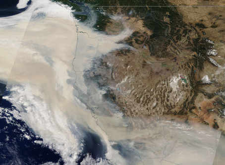 Smoke From Western US Fires Causing Poor Air Quality in BC