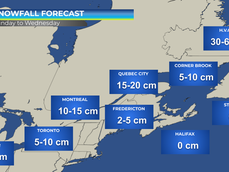 Strong Low to Impact Eastern Half of Canada