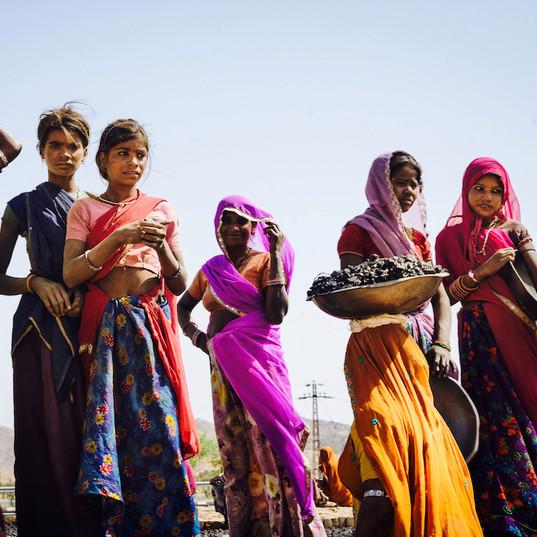 Brickmakers in village near Udaipur