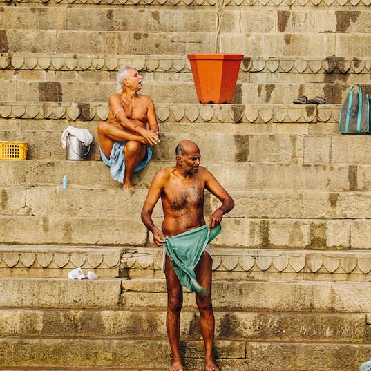 Washing in Ganges, Varansi