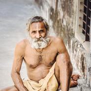 Sadhu at Monkey Temple, Jaipur