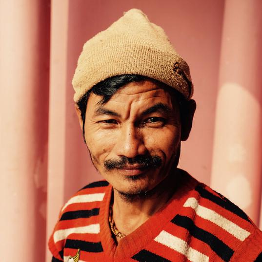 Mixed race man in Varanasi
