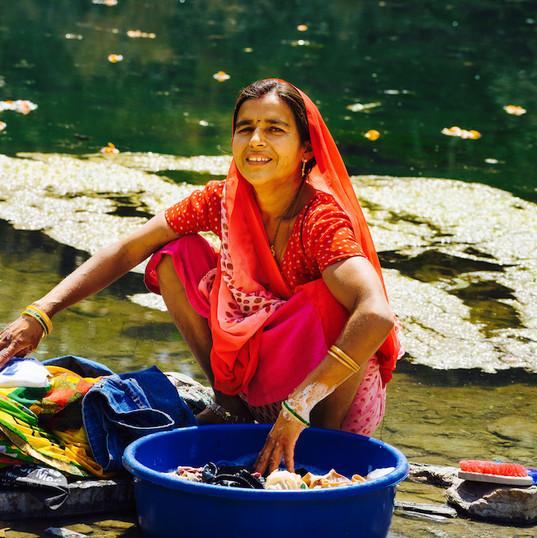 Washing in village near Udaipur