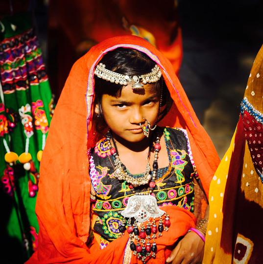Village girl in Jaisalmer, Rajasthan
