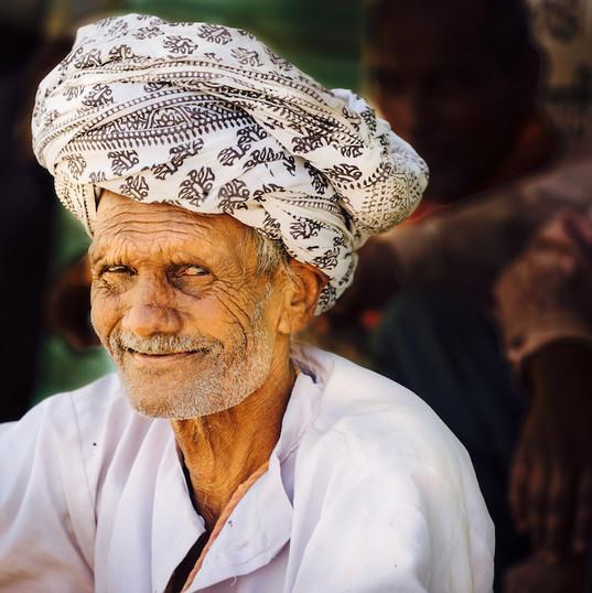 Moslem man in village near Udaipur
