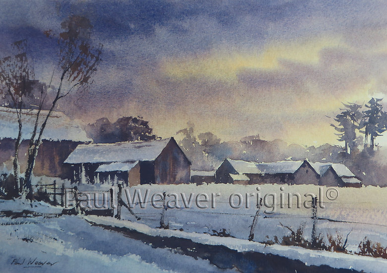 Low Cloud and Snow, Frenchay Village