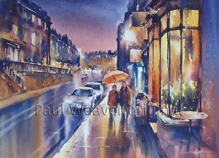 Evening Reflections, George Street, Bath