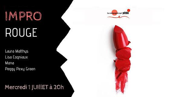Spectacle d'Impro Rouge de la compagnie