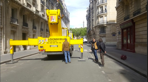 set up in a parisian street