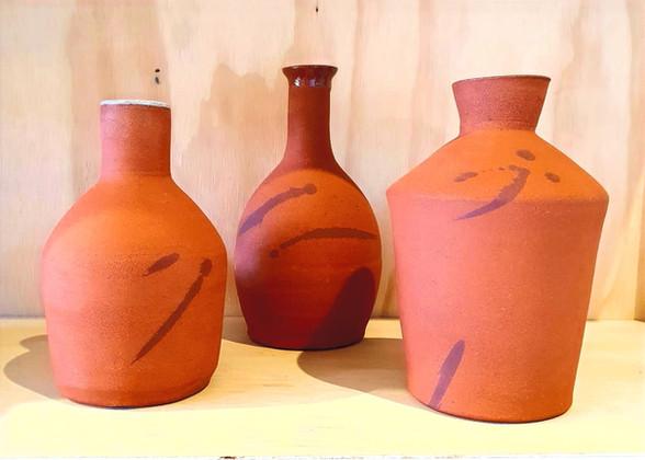terracotta olive oil bottles