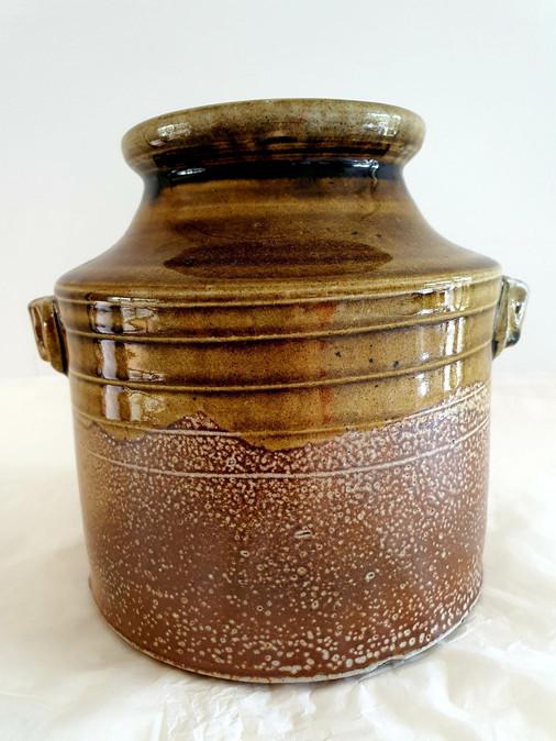wood/salt fired large ornamental vase