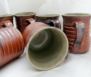 Red and Green Banded cups