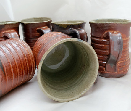 Orange and Green Banded cups