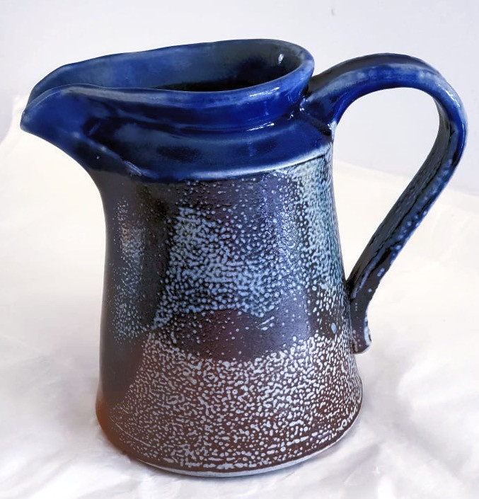 Wood fired blue 1lit jug