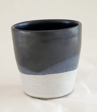 White and black cup