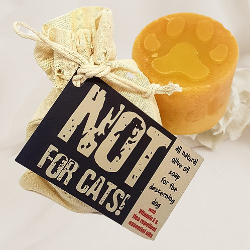 NOT FOR CATS! Olive Oil Soap for the Discerning Dog