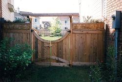 Decorative Cedar Fence and Gate