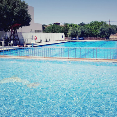 Swimming pool in the village